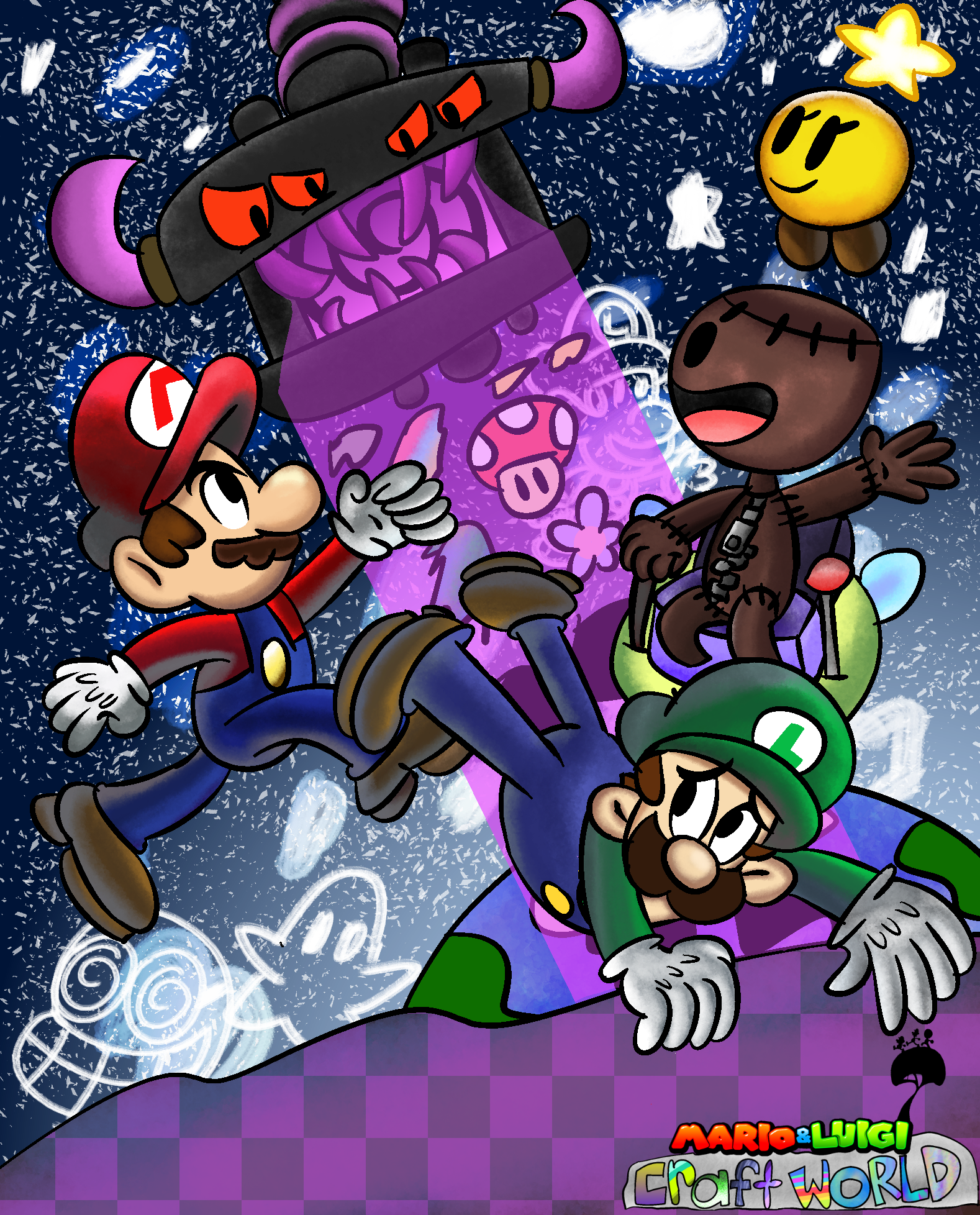 The Negativitrion is attacking Craft World and up to the Mario Bros. to team up with Sackboy to stop him!